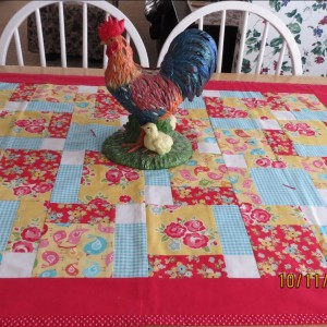 Disappearing Nine Patch Table Topper