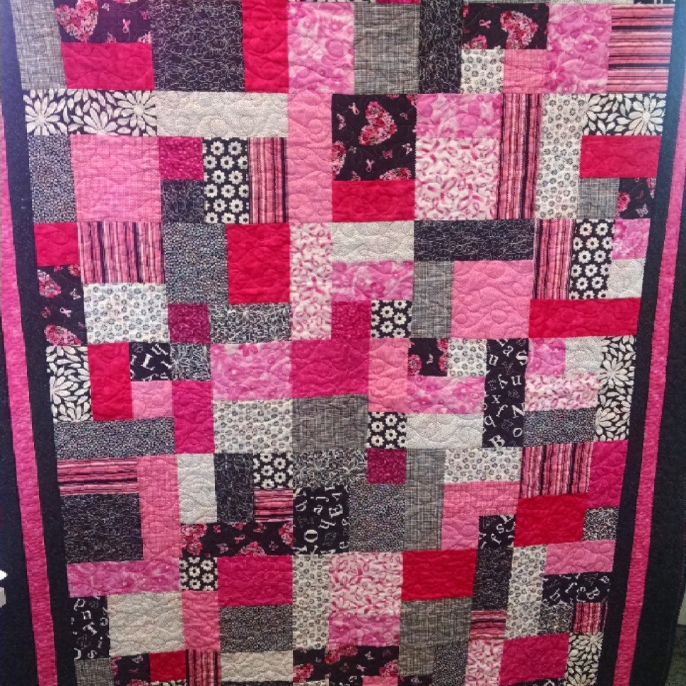 Making Strides Against Breast Cancer Raffle Quilt