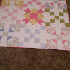 Last minute baby quilt