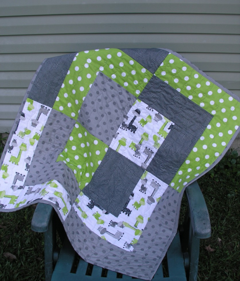Giant Bento Box Baby Quilt | Quiltsby.me