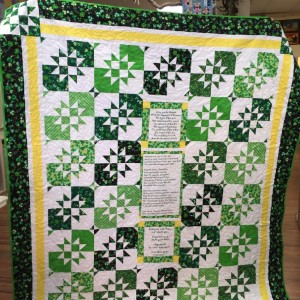 Irish Prayer Quilt
