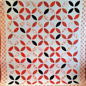Sunlit Applique Orange Peel Quilt