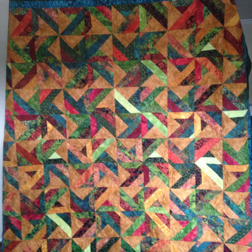 Quilt for Chris in his new apartment