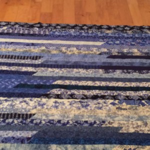Blue Willow Strip Quilt