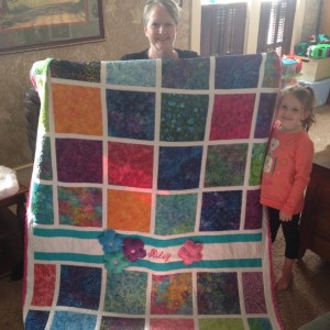Birthday Granddaughter Quilt