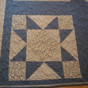 MIssouri Star Pattern in blue