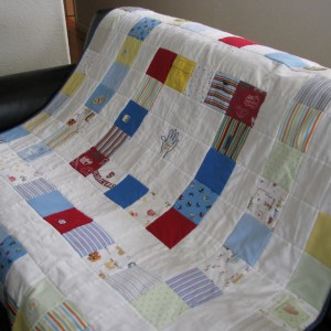 Baby Boy Clothes Quilt