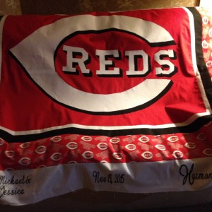Cincinnati Reds Wedding Quilt