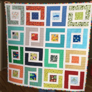 Jungle Path Baby Quilt - Moda