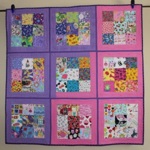 Pink and Purple I Spy Quilt