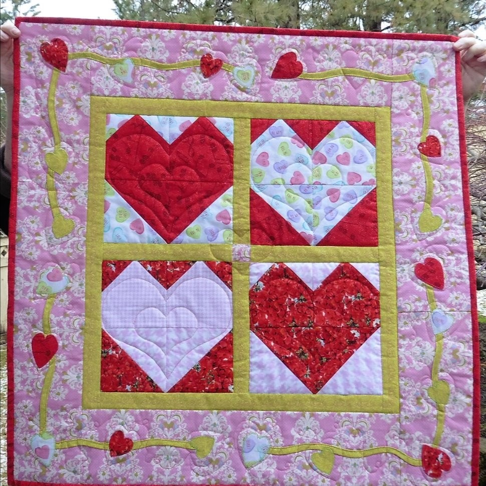 Candy Heart Wall Hanging