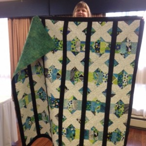 Kissing Coins quilt with a twist