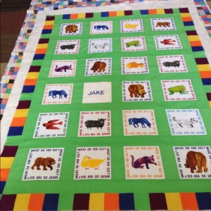 Brown Bear, Brown Bear Baby Quilt