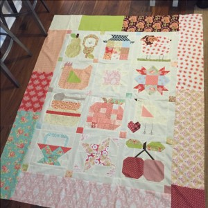 Farm girl vintage twin quilt