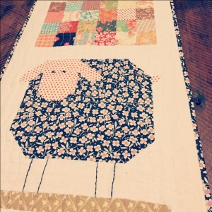 Sheep table runner