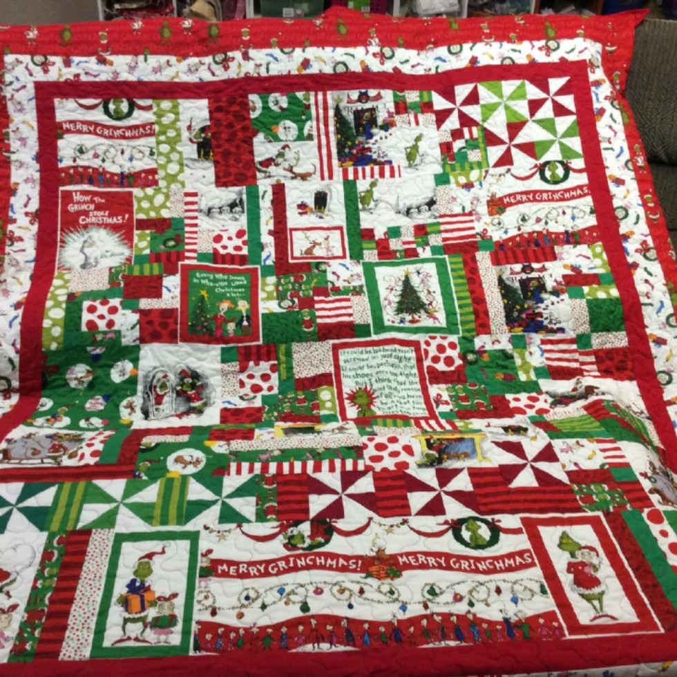 How The Grinch Stole Christmas I Spy Quilt Quiltsby Me