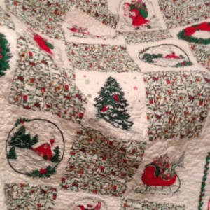 Christmas throw