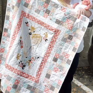 Fawn in Tulip baby quilt