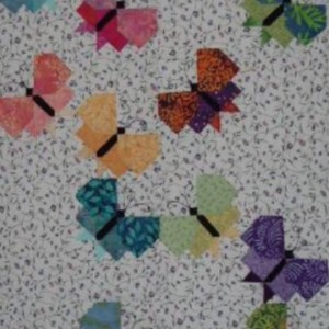 Paper pieced butterflys