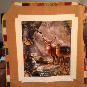 Dave's deer quilt