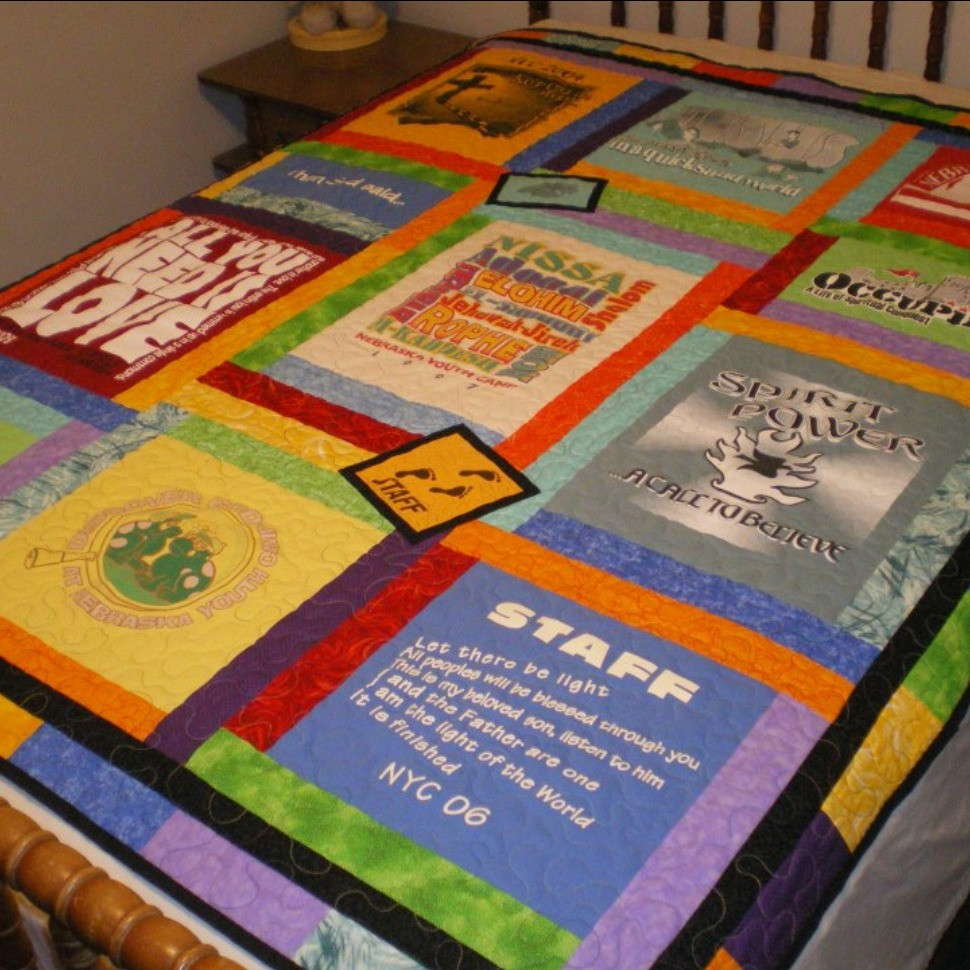 Nebraksa Youth Camp 2012T-shirt quilt