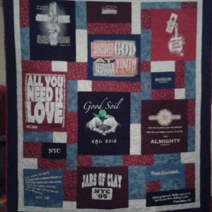 Nebraska Youth Camp 2013 T-Shirt Quilt