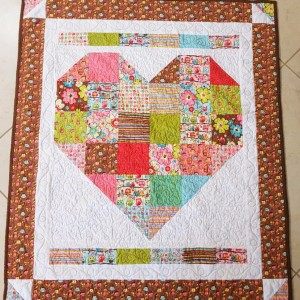 Patchwork Heart Baby Quilt