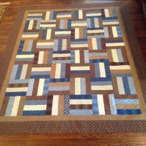 Fence Rail Quilt Top