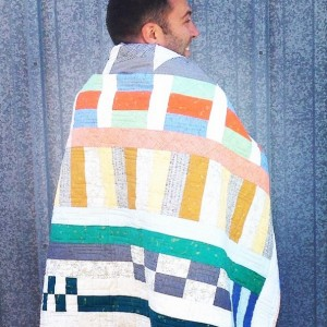 Stream of Consciousness jelly roll quilt