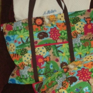 Whimsical Tote/mat and pillow