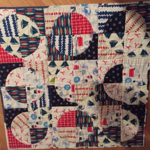 Drunkard's Path Baby Beachy Quilt
