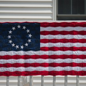 A Tumbler Block Betsy Ross 13 Star Flag