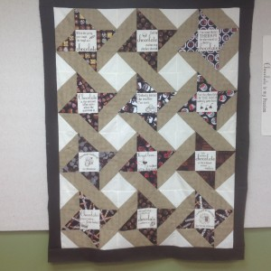A Lifetime of Chocolates, an appreciation quilt