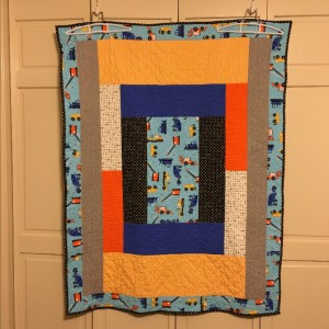 Easy Peasy Toddler Log Cabin Quilt