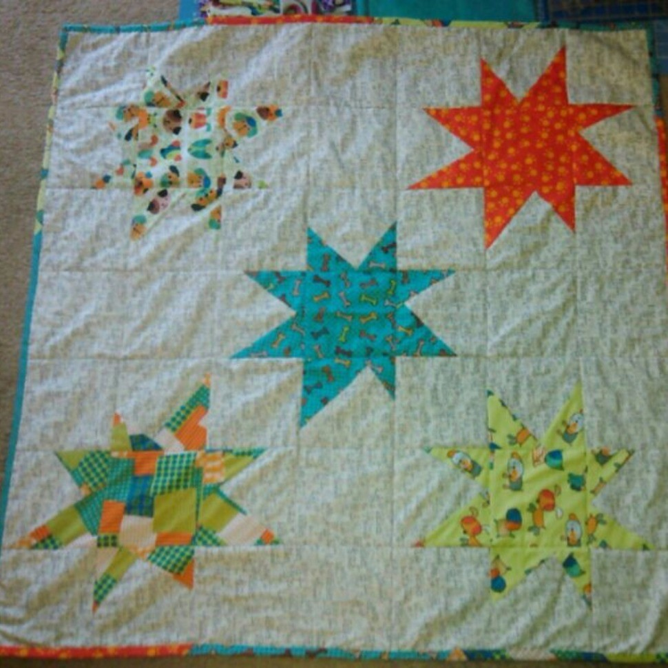 Leighton's Wonky Star Baby Quilt