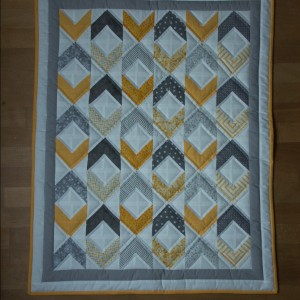 Gray and yellow Baby Quilt