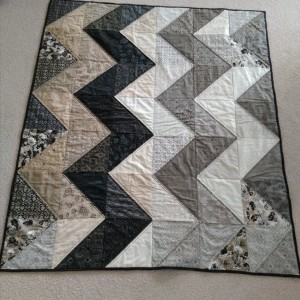 Chevron wedding quilt