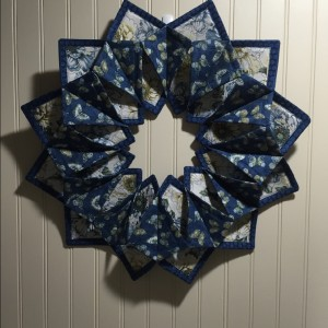Folded square wreath