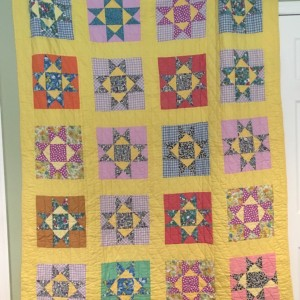 Graduation quilt FROM my Grandmother Esther