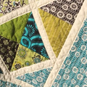 Teal & Green Lattice Quilt