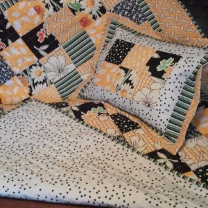 Yellow and Black Lap Size Quilt