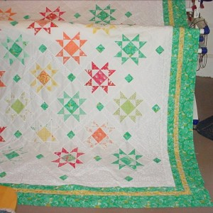 Bri's Ohio Star quilt