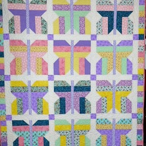 Strip Butterfly Quiltsby Me