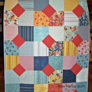 PB&J Lap Quilt in Layers of Charm