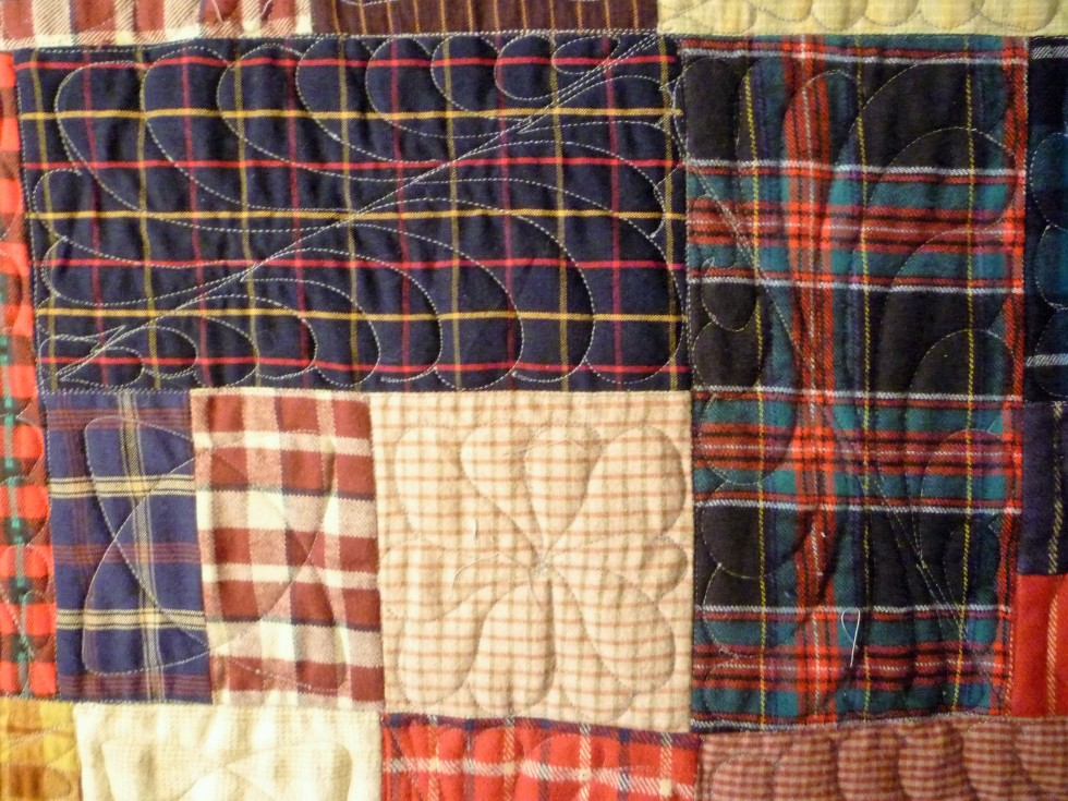 Plaid Flannel KIng Quilt