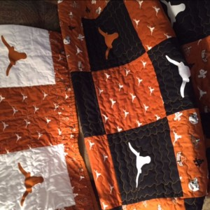 His and Her UT Longhorn Quilts