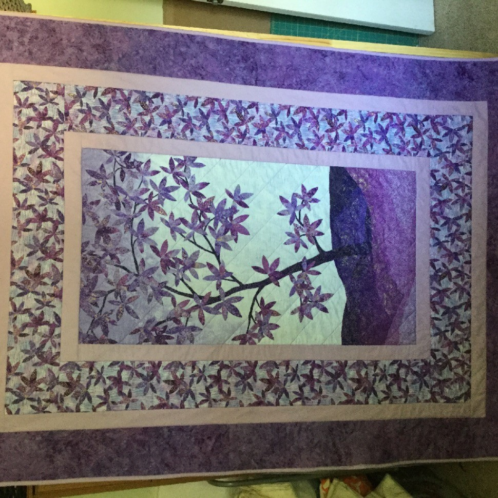 Very purple quilt!