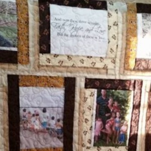 Wilde family photo quilt