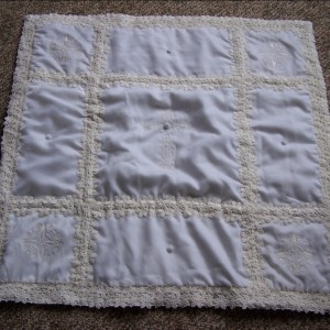 wedding gown to christening quilt