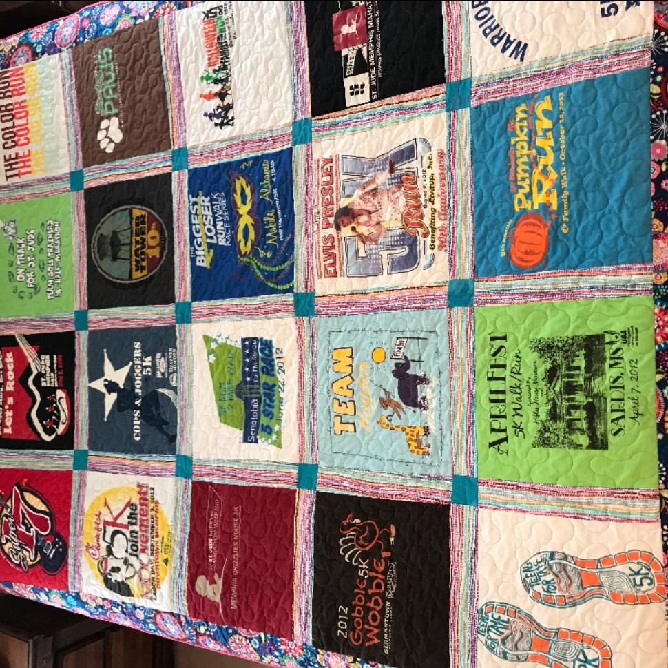 My first tshirt quilt